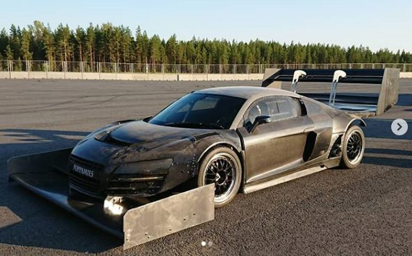 Time Attack Monster 1.500 HP Audi R8 Coupe Video: Time Attack Monster 1.500 HP Audi R8 Coupe