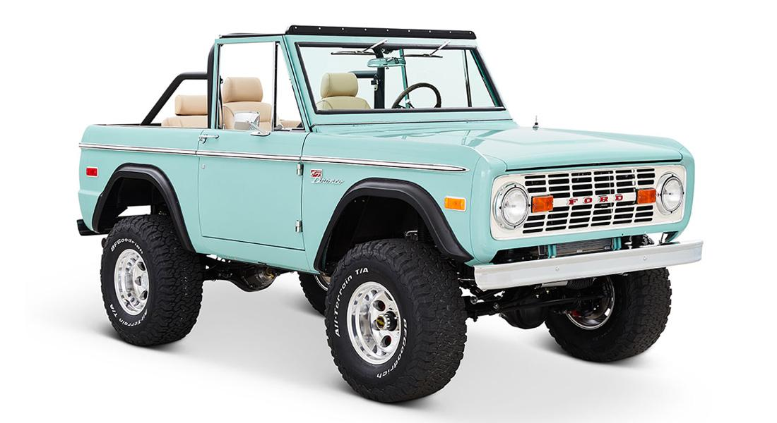 1970 Ford Bronco Gen1. Restomodo V8 Jupiter Blue Tuning 25 Babyblau   1970 Ford Bronco Gen1. mit 5.0 V8 Power
