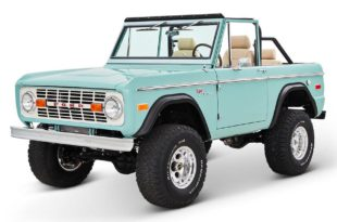 1970 Ford Bronco Gen1. Restomodo V8 Jupiter Blue Tuning 7 310x205 Babyblau   1970 Ford Bronco Gen1. mit 5.0 V8 Power
