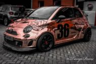 320 PS Fiat Abarth 595C Widebody Tuning 1 190x127 Extremer Umbau   320 PS Fiat Abarth 595C Widebody