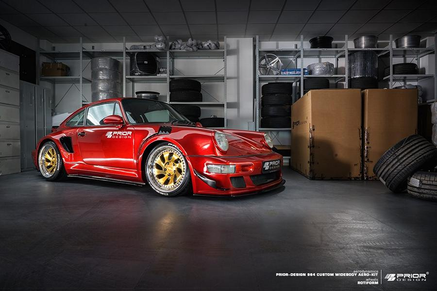 Prior Design Porsche 964 Widebody 911 Rotiform Tuning 13 Fetter Klassiker: Prior Design Porsche 964 Widebody Project