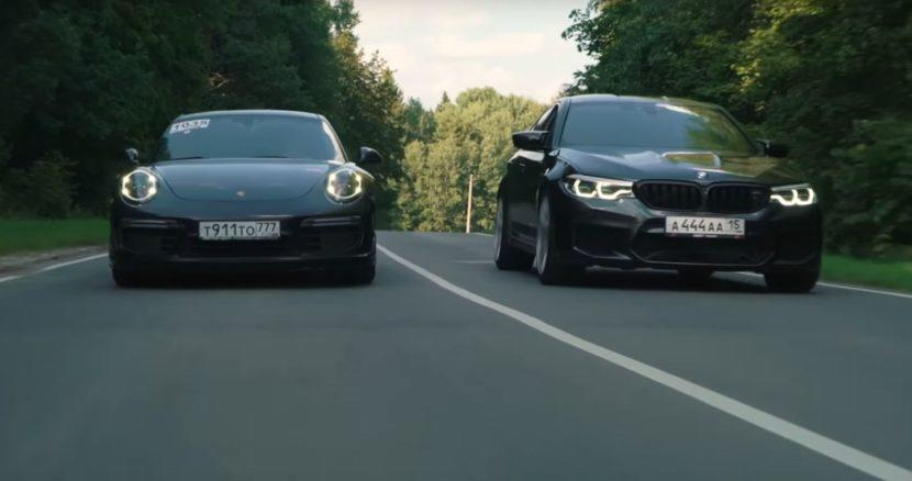 800 PS BMW M5 vs. Audi R8 vs. Porsche 911 Turbo S Video: 800 PS BMW M5 vs. Audi R8 vs. Porsche 911 Turbo S