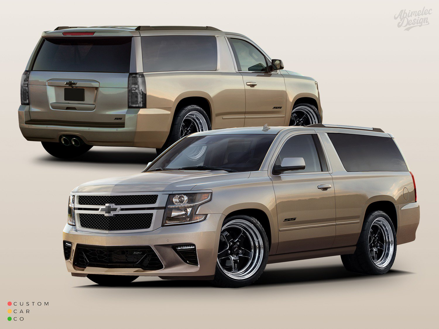 Cadillac Escalade V Coupe Chevrolet Tahoe SS Tuning 2 Cadillac Escalade V oder Chevrolet Tahoe SS Coupe?