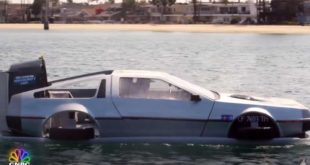 Jay Leno um DeLorean DMC 12 Luftkissenboot 310x165 Video: Jay Leno im DeLorean DMC 12 Luftkissenboot