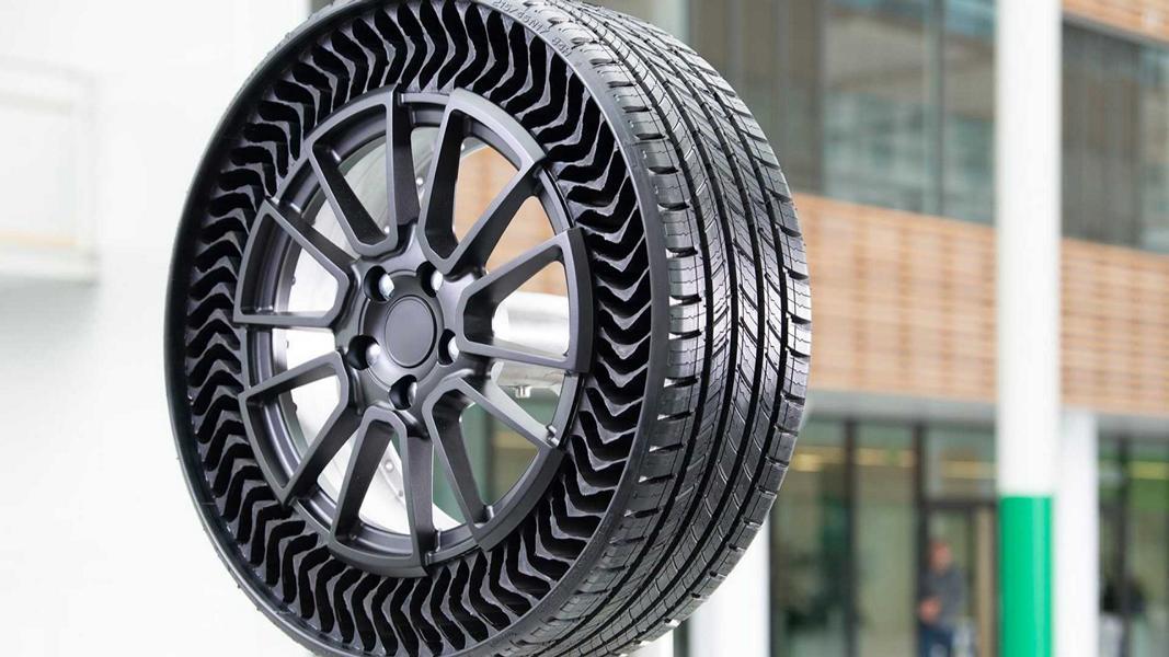 Michelin Uptis Vision Conept luftloser Konzeptreifen Felge 3 Michelin Uptis   luftloser Konzeptreifen zur IAA 2019