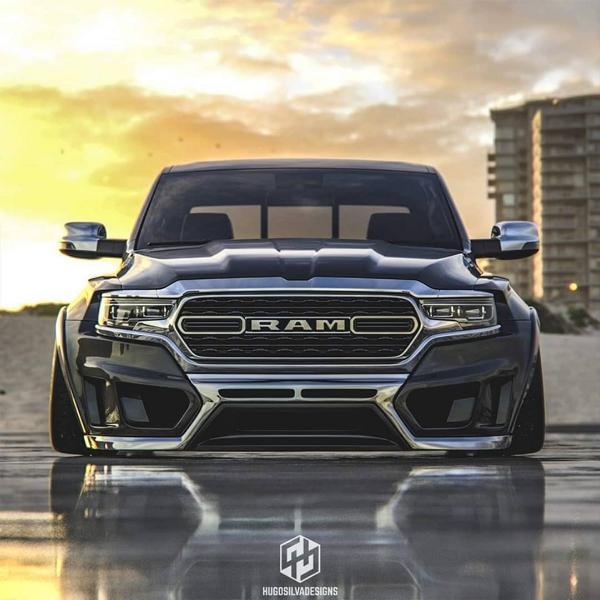 2019 Dodge Ram 1500 Widebody Pickup Airride Tuning 2 Rendering: 2019 Ram 1500 Widebody Pickup mit Airride