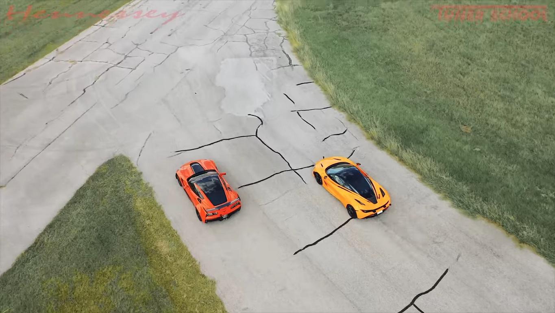 Hennessey Chevrolet Corvette ZR1 vs. McLaren 720S Video: Hennessey Chevrolet Corvette ZR1 vs. McLaren 720S