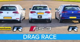Mountune VW Golf R Audi RS3 dragrace 310x165 Video: Ein Lamborghini Aventador aus dem 3D Drucker