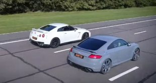 Nissan GT R Audi TT RS Coupe Dragrace 310x165 Video: Hardcore Heckflügel am Pandem Toyota Supra