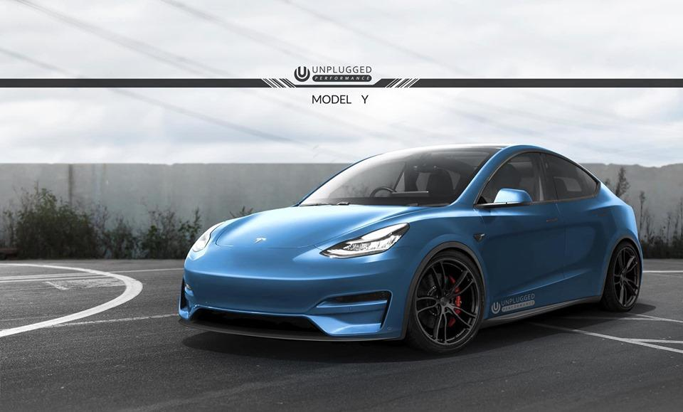 Unplugged Performance Tesla Model Y Bodykit Tuning Vorschau: Unplugged Performance Tesla Model Y Bodykit
