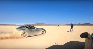Desert Drag race Toyota Supra vs. Dodge Demon 310x165 Video: 1200 HP AMS 12 Nissan GT R vs. Bugatti Veyron Vitesse