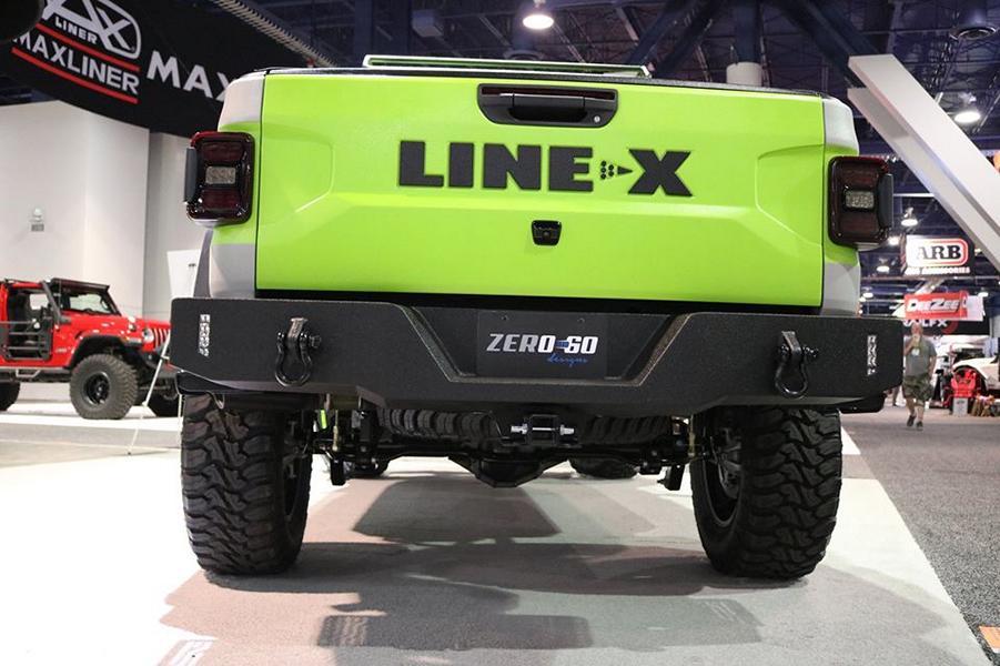 LINE X Jeep Gladiator Halbtüren SEMA Zero to 60 Designs Tuning 18 LINE X   mächtiger Jeep Gladiator mit Halbtüren zur SEMA
