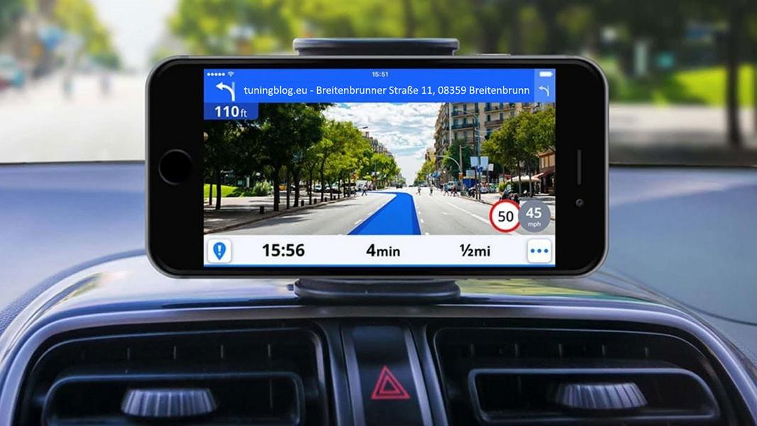 Navigation device GPS retrofit tuning smartphone Target-oriented navigation for the car for retrofitting!