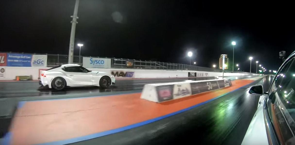 Toyota Supra vs. Tesla Mode 3 Video: Drag race   500 PS Toyota Supra vs. Tesla Mode 3