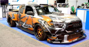 Toyota Tacoma TRD Widebody Forgeline Tuning Nascar V8 Header 310x165 Video: Porsche Cayman GT4 Turbo von mit 450 PS & 475 NM