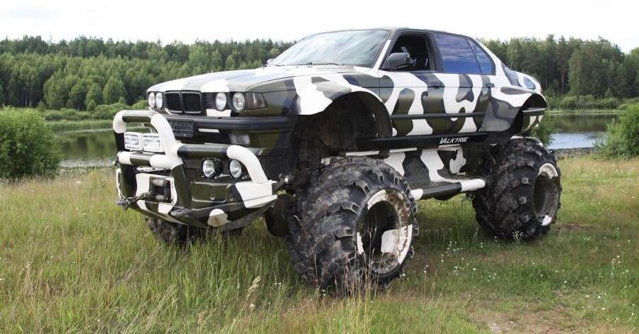 Valkyrie 766 Bonkers BMW 7er 4x4 Monster Truck Tuning Header Make it bigger   der Umbau zum Monstetruck!
