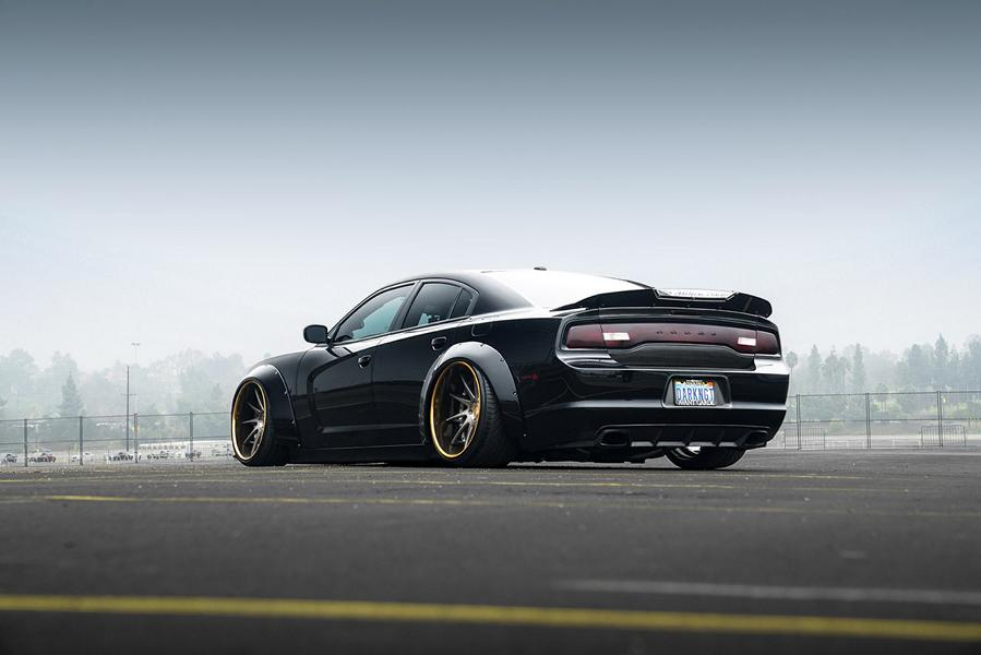 Dodge Charger Widebody F421 AG Wheels Tuning Rotora 3 Pechschwarz   Dodge Charger Widebody auf F421 Alus!
