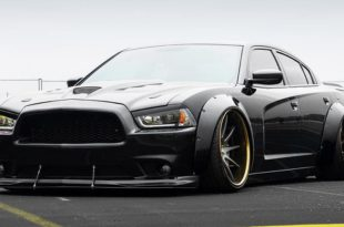 Dodge Charger Widebody F421 AG Wheels Tuning Rotora Header 310x205 Pechschwarz   Dodge Charger Widebody auf F421 Alus!