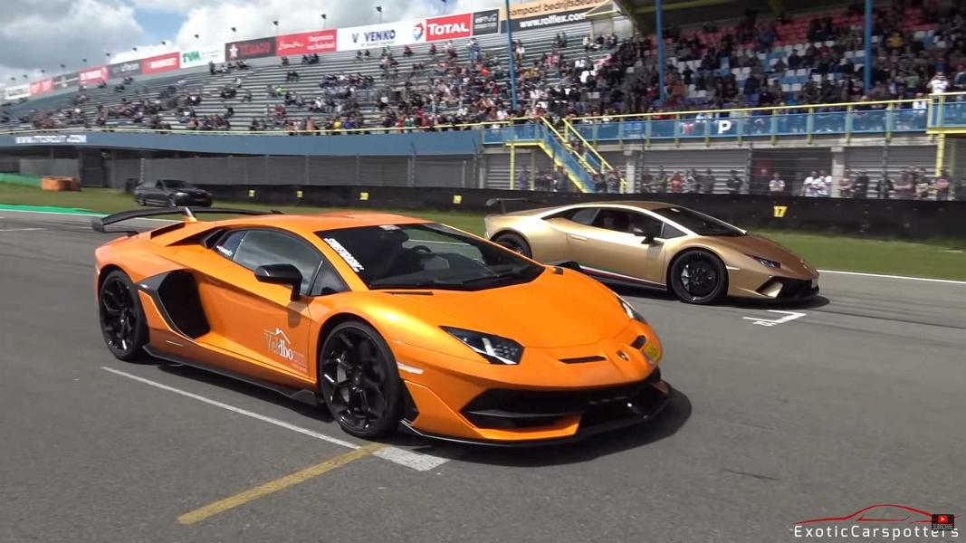 Lamborghini Aventador SVJ vs. 1.200 PS GT R Video: Drag Race   Lamborghini Aventador SVJ vs. 1.200 PS GT R