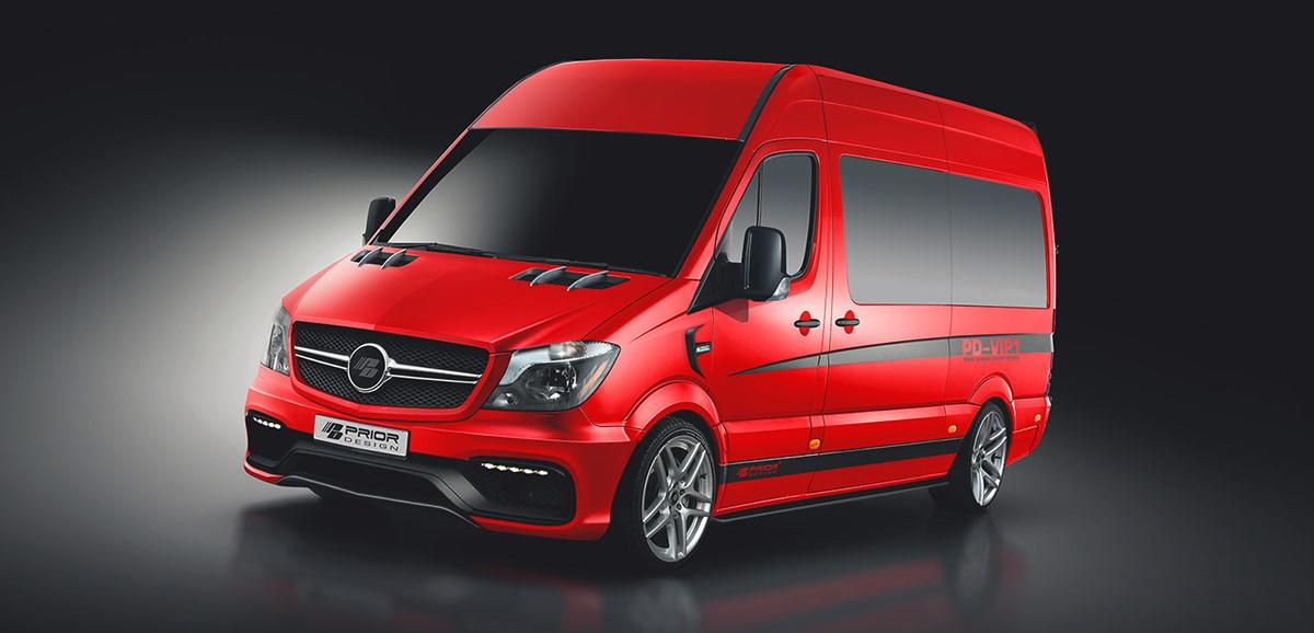 PD VIP1 Bodykit Prior Design Mercedes Sprinter W906 Header PD VIP1 Bodykit von Prior Design am Mercedes Sprinter