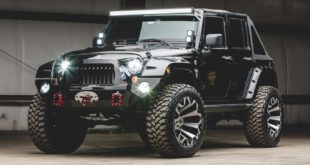 Tuning Jeep Wrangler Widebody Unlimited 37 Zoll Header 310x165 707 PS V8 Hellcat Power im 2020 Jeep Gladiator Pickup!