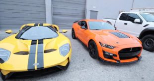 656 PS Ford GT vs. 770 PS Shelby Mustang GT500 310x165 Video: 720 PS am Rad   2020 Ford Mustang Shelby GT500