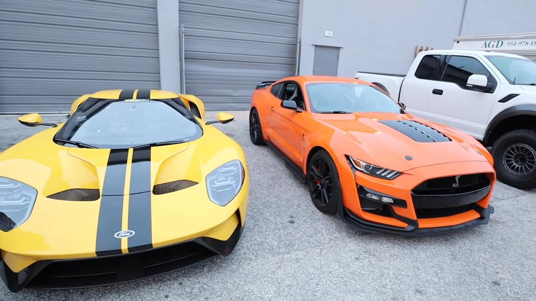 656 PS Ford GT vs. 770 PS Shelby Mustang GT500 Video: 656 PS Ford GT vs. 770 PS Shelby Mustang GT500