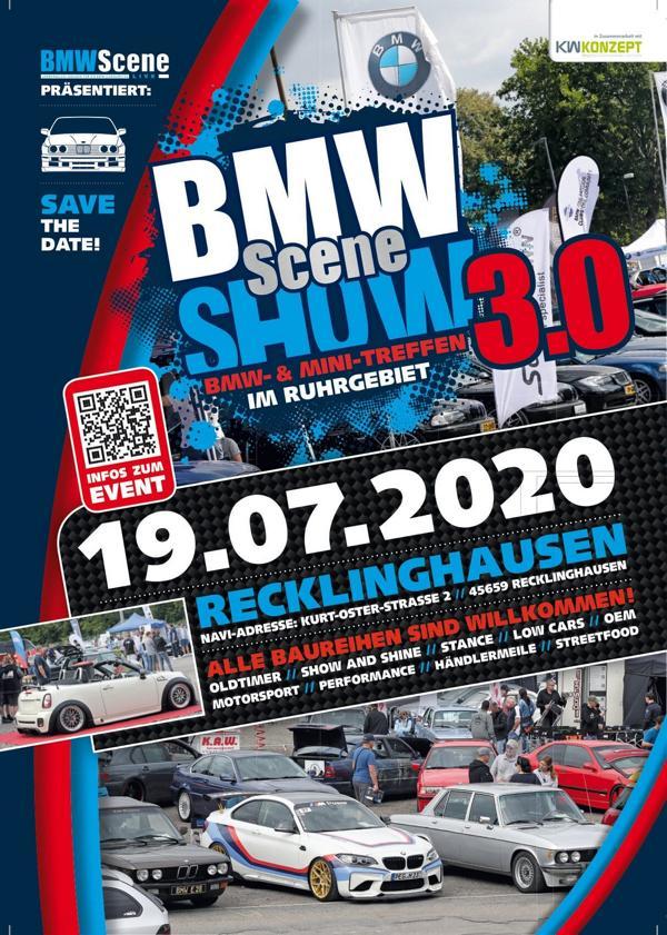 BMW SCENE SHOW 2020 Tuningtreffen 2 Tipp: 2020 BMW SCENE SHOW 3.0! in Recklinghausen