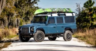 E.C.D. 1993 Land Rover Defender 110 Restomod Tuning V8 Header 310x165 Project Alpaca   565 PS Land Rover Defender von E.C.D.