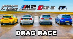 Drag race golf r a45 amg rs3 m2 310x165 Video: Drag Race   BMW M5, Audi RS6, Mercedes AMG E63, Porsche Panamera Turbo S
