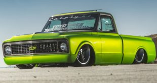 Restomod 1971 Chevrolet C10 Pickup V8 cany mist pearl green Head 310x165 V8 Power im 1955 Chevrolet 3100 Restomod Pickup!
