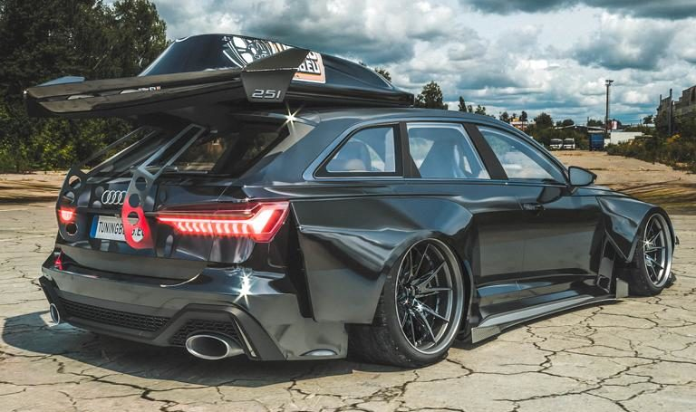 Widebody Audi RS6 C8 2020 Tuning Dachbox bagged 3 1 e1582313783400 2020 Audi RS6 (C8) Widebody mit 1.250 PS & Dachbox!