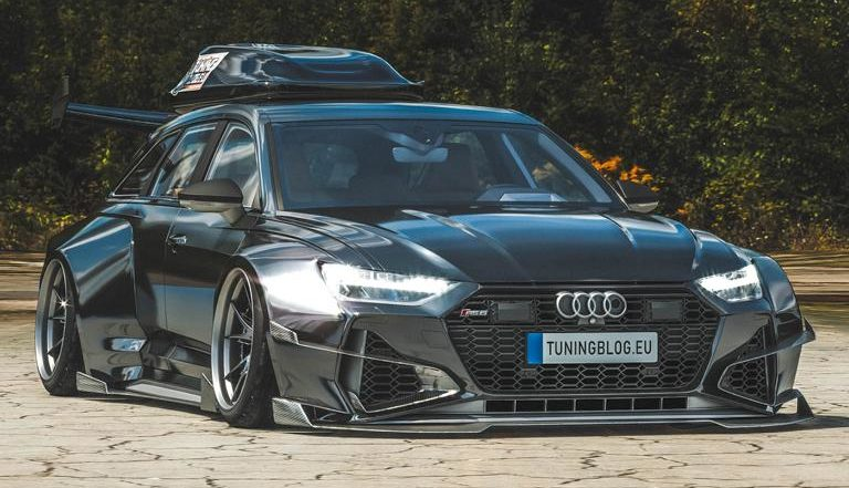 Widebody Audi RS6 C8 2020 Tuning Dachbox bagged 5 1 e1582313700666 2020 Audi RS6 (C8) Widebody mit 1.250 PS & Dachbox!