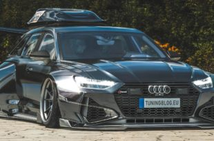 Widebody Audi RS6 C8 2020 Tuning Dachbox bagged Header 310x205 2020 Audi RS6 (C8) Widebody mit 1.250 PS & Dachbox!