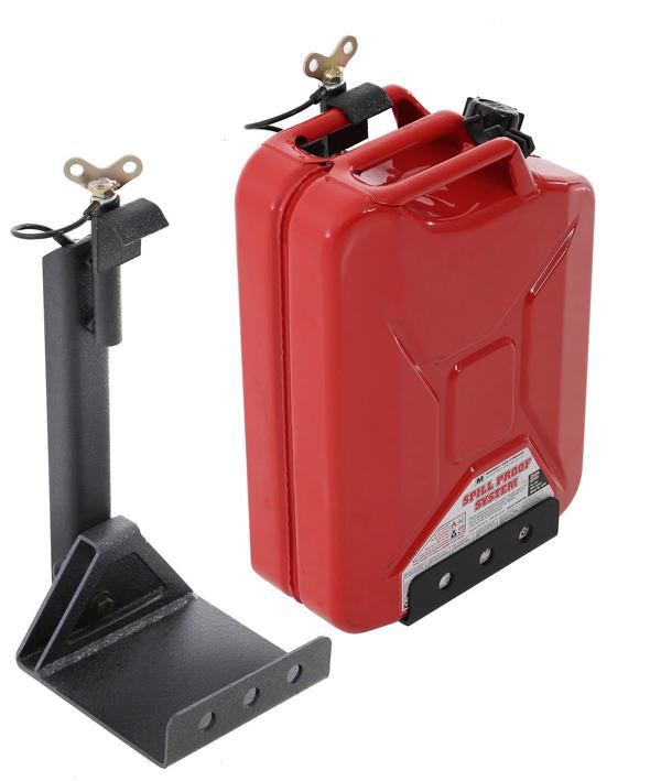 Car Fuel Tank Holder Jerry Can//Gasoline Fuel Can Holder Bracket 10 Liters 20 Liter Universal Storage Rack Lockable Rust-Proof