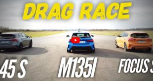 Mercedes AMG A45 S BMW M135i Ford Focus ST 310x165 Video: Mercedes AMG A45 S, BMW M135i & Ford Focus ST