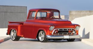V8 Power 1955 Chevrolet 3100 Restomod Pickup Tuning Header 310x165 Vollelektrisch: Ford Bronco Restomod von Gateway Bronco!