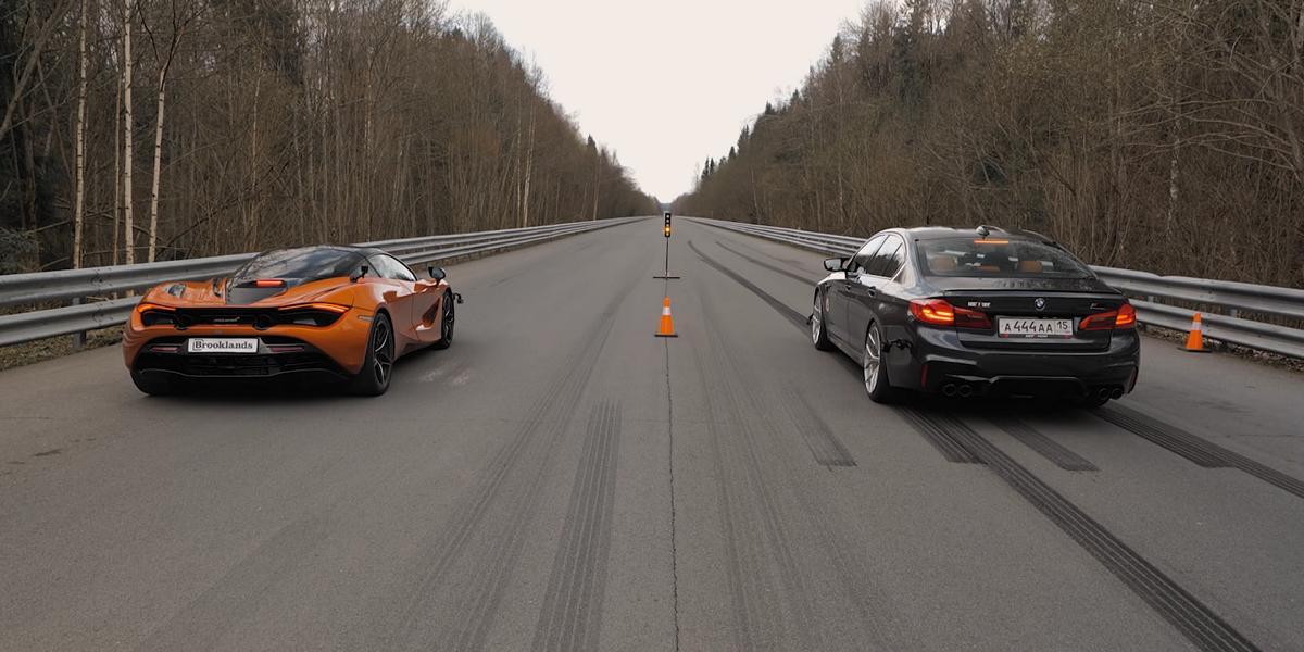 840 PS BMW M5 F90 vs. McLaren 720S 2 Video: Drag race   840 PS BMW M5 F90 vs. McLaren 720S