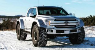 Arctic Trucks Ford F 150 AT44 Widebody Tuning 2 310x165 Ford F 150 mit Tieferlegung und Vossen HF6 3 Felgen!