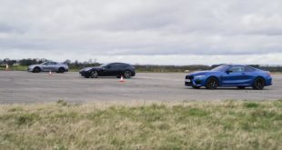 BMW M8 Ferrari GTC4Lusso Nissan GT R 310x165 Video: Drag race: VW T Roc R vs Audi SQ2 vs BMW X2 M35i