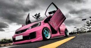 Pink Panther Honda Jazz LSD Tuning Bodykit Header 310x165 Honda Jade with Stance Tuning a minivan can be so cool.