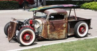 Rat Rod Hot Rod Tuning Ratte 310x165 LeMans Felgen und 800 HP 1931 Ford Model A Pickup Truck