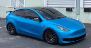 Unplugged Tesla Model Y Tuning Sportfedern Spoiler 6 310x165 Tieferlegung! 2020 Unplugged Performance Tesla Model Y