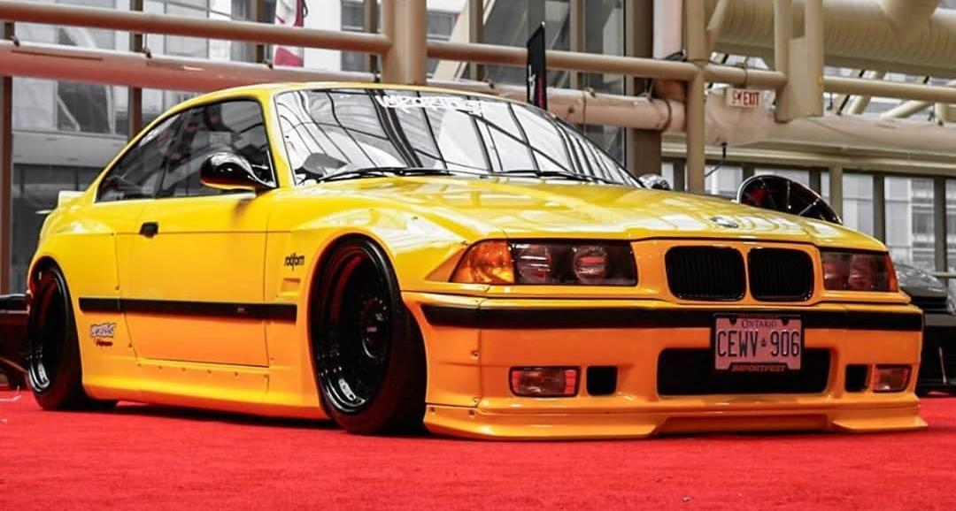 Bmw M3 E36 From Pandem The Yellow Joy Of Driving