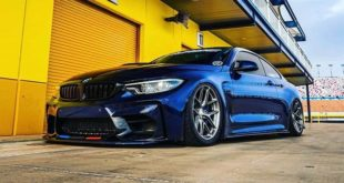 BMW M4 F82 Airride chassis Dinmann Tuning Header 310x165 Bavaria Blue crass BMW M4 (F82) with Airride chassis and race parts from Dinmann.