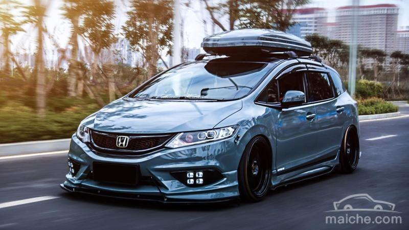 Honda Jade Stance Tuning Airride VSXX rims 1 1 Honda Jade with Stance Tuning a minivan can be so cool.