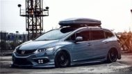 Honda Jade Stance Tuning Airride VSXX rims 12 190x107 Honda Jade with Stance Tuning a minivan can be so cool.