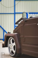 Pepita VW Kübel Leder Karosserie Tuning 9 155x233 Lederkübel Verrückter VW Kübel im braunen Lederkleid!