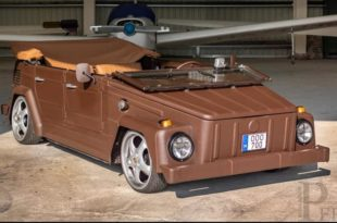 Pepita VW bucket leather body tuning header 310x205 leather bucket Crazy VW bucket in brown leather dress!