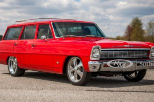 Restomod 1966 Chevrolet II Wagon Tuning Header 310x205 Restomod: 1966 Chevrolet II Wagon (Nova) auf Chromfelgen!